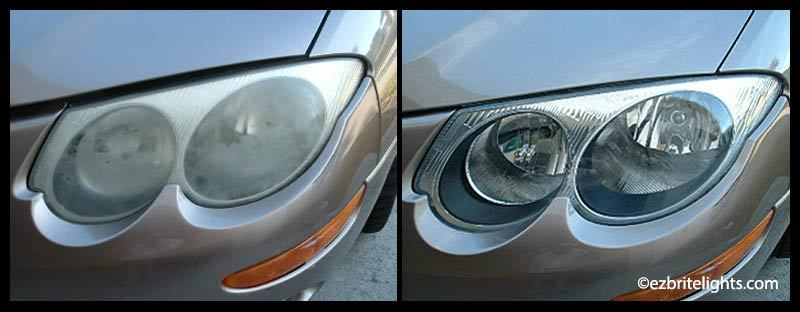 dull-headlights-versus-polished-sealed-ez-brite-lights